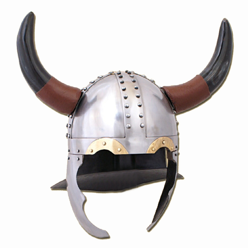 LARP Viking Horned Helmet 1 3mm Steel