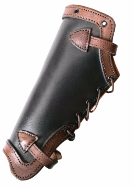 Palnatoke Plain Greaves Black/Brown Leather