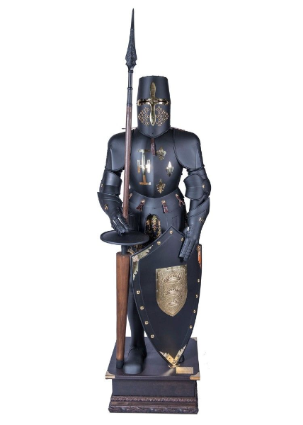 Tournament Armour With Pole and Shield By Marto- Black